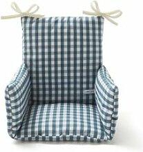 Coussin chaise haute bébé coton vichy