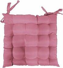 Coussin de chaise assise matelassé 40 x 40 cm rose