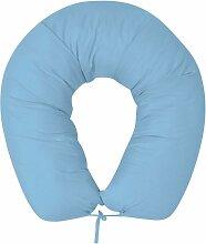 coussin de grossesse 40x170 cm bleu clair - Rogal