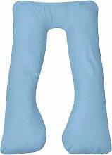 coussin de grossesse 90 x 145 cm bleu clair - Rogal
