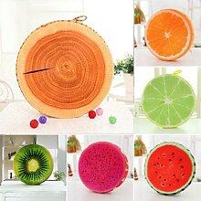 Coussin de siège rond en forme de Fruit pour