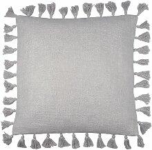 Coussin de sol Joséphine coton/lurex gris