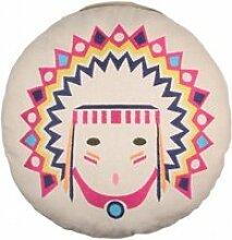 Coussin déco indien : tribal