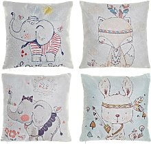 Coussin dkd home decor animaux enfant polyester (4