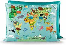 Coussin enfant Little Big Bag world - World