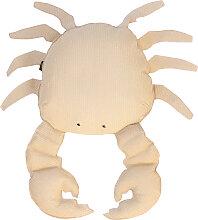 Coussin extérieur crabe effet raphia