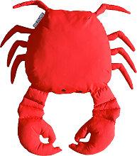 Coussin extérieur crabe rouge vif