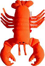 Coussin extérieur homard orange vif