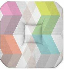 Coussin galette de chaise assise pastel 36 x 36 cm