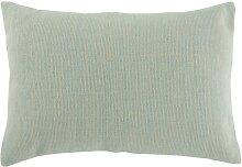 Coussin rectangulaire coton menthe 60x40