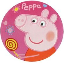Coussin rond peppa pig rose