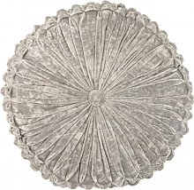 Coussin rond polyester argent D45cm