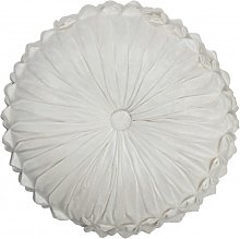Coussin rond polyester blanc D45cm