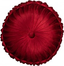 Coussin rond polyester rouge D45cm