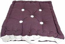 Coussin tapissier en coton boudoir - 40 x 40 cm -