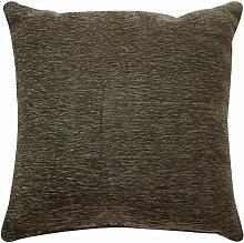 Coussin texturé vintage marron écorce 90x90