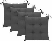 Coussins de chaise 4 pcs Anthracite 40x40x7 cm