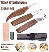 Couteau à découper le bois de noyer, ciseau,