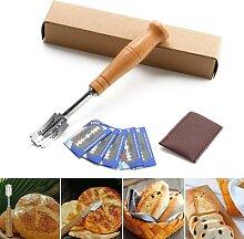 Couteau à Toast avec 5 lames remplaçables,
