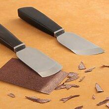 Couteau amincissant professionnel en cuir, manche