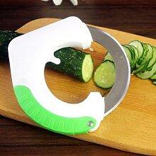 Couteau de cuisine circulaire en acier inoxydable,