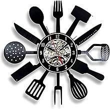 Couteau de Cuisine et Fourchette Horloge Murale de
