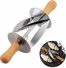 Couteau roulant pour fabriquer la pâte de pâte