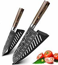 Couteaux de cuisine Ensemble en acier inoxydable