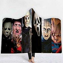 Couverture à capuche pour Halloween A4