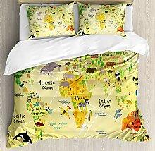 Couverture de Couette Afrique, Carte du Monde