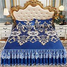 Couverture de jupe de lit antidérapante Matelas