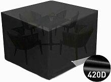 Couverture de table de jardin avec ventilation de
