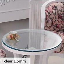 Couverture de Table en verre souple, nappe ronde