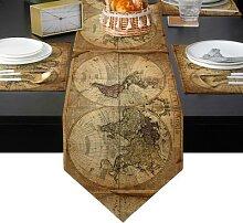 Couverture de tapis de Table, carte du monde,