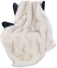 Couverture en fausse fourrure de renard 150x200cm,
