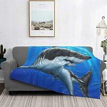 Couverture grand requin blanc bleu Predator,