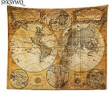 Couverture mandala carte du monde, tapisserie