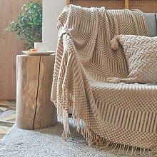 Couverture nordique simple et solide pour canapé,