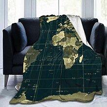 Couverture personnalisée, carte du monde