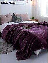 Couverture polaire pour lit de maison, couvre-lits