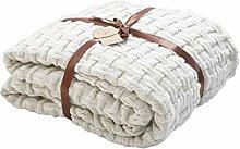 Couvertures tricotées en cordon de coton pour
