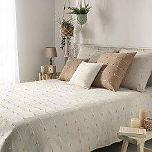 couvre lit 1 personne 180 x 220 cm fileo naturel