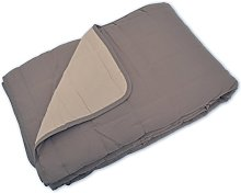 Couvre-lit 100% Polyester Taupe/Lin 230 x 260 cm -