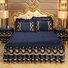 Couvre-lit de luxe ensembles de draps broderie lit