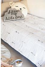 Couvre-lit en coton (140x240 cm) Indi Kids Blanc