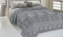 Couvre-lit en coton : Gris / 220 x 270 cm