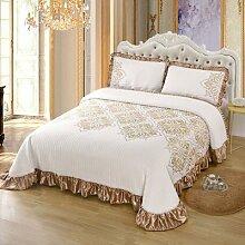 Couvre-lit en coton tricoté doux, couvre-lit,