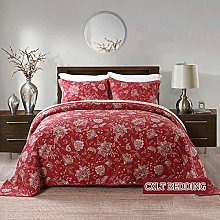 Couvre-lit Floral Rouge Boutis Queen Super King
