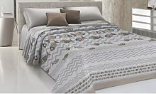 Couvre-lit motif poissons : Pour lit 1 place et