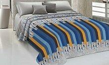Couvre-lits 100% coton à motif crayons : 260 x